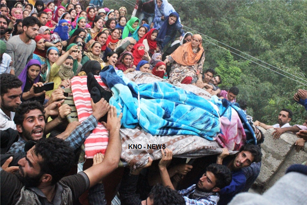 Multiple funerals held for slain militant in Shopian | KNO