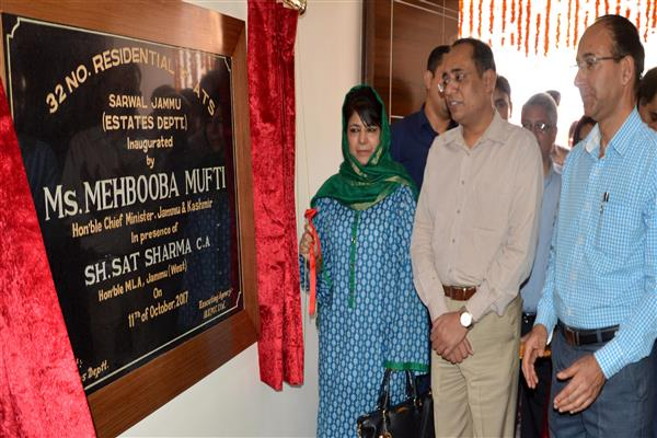 Mehbooba inaugurates, lays foundation of additional accommodation for move employees | KNO