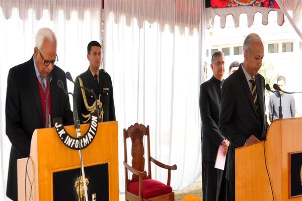 Governor administers Oath to P.L Gupta and Gazzanfer Hussain as Chief Vigilance Commissioner and Vigilance Commissioner | KNO
