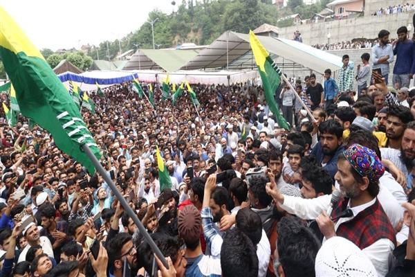 Malik addresses a mammoth gathering at Chrar I shareef | KNO