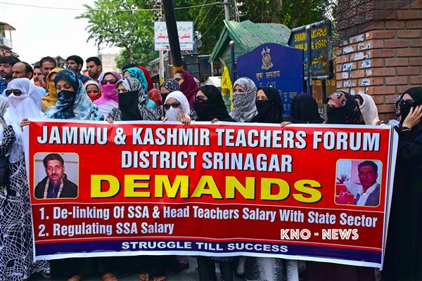 Resolve issues of SSA teachers else we'll also observe Eid as 'black day' : EJCC to govt | KNO