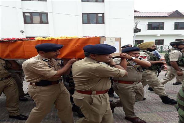 Wreath laying ceremony held at DPL Srinagar | KNO