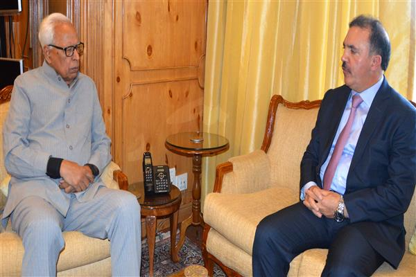 Chairman J&K Bank meets Governor | KNO