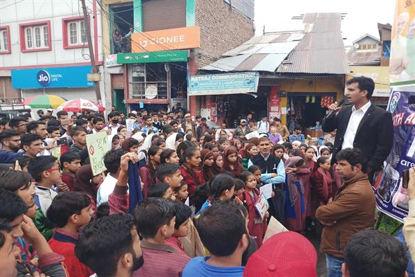 YAC holds rally against drug abuse in Bhaderwah | KNO