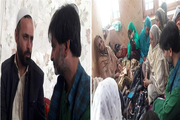 Malik visits Ladoo pampora, 'Meets bereaved family of slain Faizan' | KN0