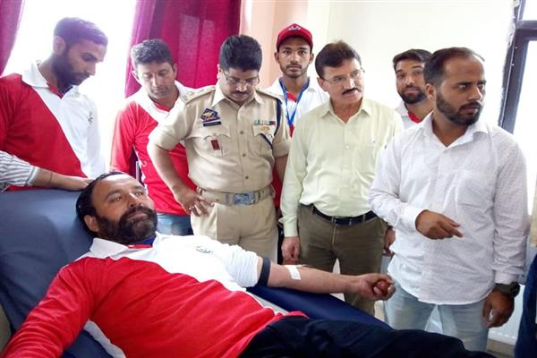 Blood Donation Camp Organised Held in SDH Bhaderwah | KNO