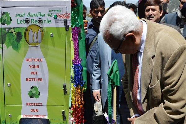 Governor inaugurates Reverse Vending Machine at Baltal Base Camp | KNO