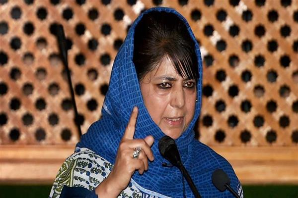 Mehbooba grieved over death of CRPF personnel at Anantnag | KNO