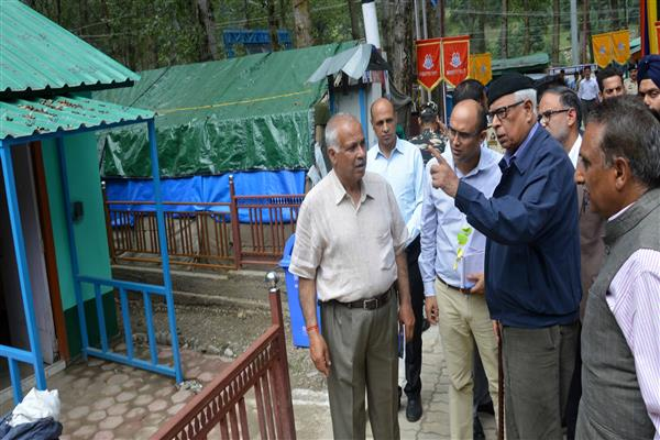 Governor visits Nunwan Yatra Base Camp | KNO