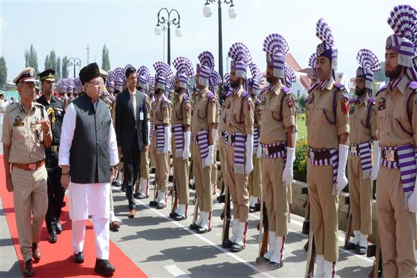 Governor presented ceremonial Guard of Honor at Civil Secretariat | KNO