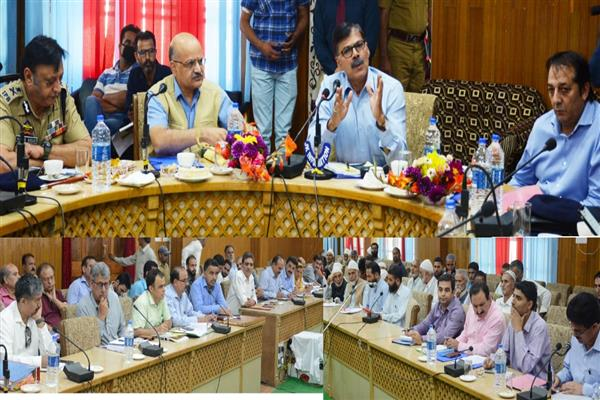 Advisor Kumar, CS visit South Kashmir districts | KNO