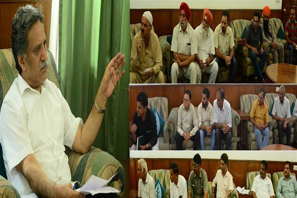 Several delegations meet Advisor Ganai in Jammu, project demands | KNO