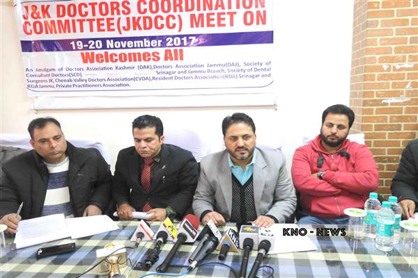 Appoint Director Health Services Kashmir/Jammu on seniority and merit as early as possible : JKDCC | KNO