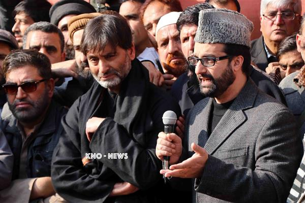 Mirwaiz, Malik grieved over demise of Geelani's son-in-law | KNO