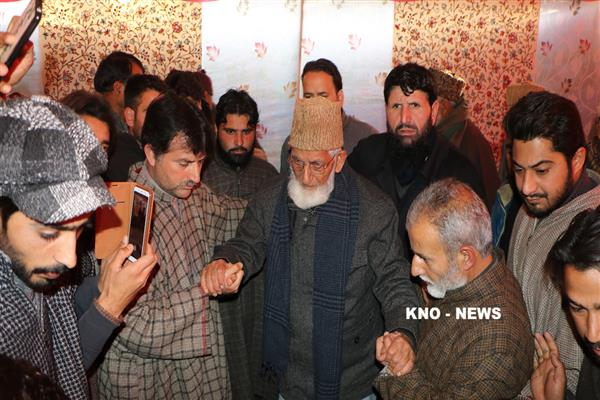 Geelani thanks pro-freedom groups, people who visit Sopore on his son-in-law's demise | KNO