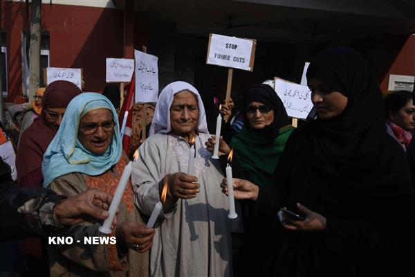 Women's wing of NC protests against pesky power cuts