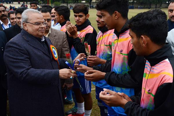 Governor inaugurates 64th National School Games-Football U 17 Tournament (Boys) | KNO