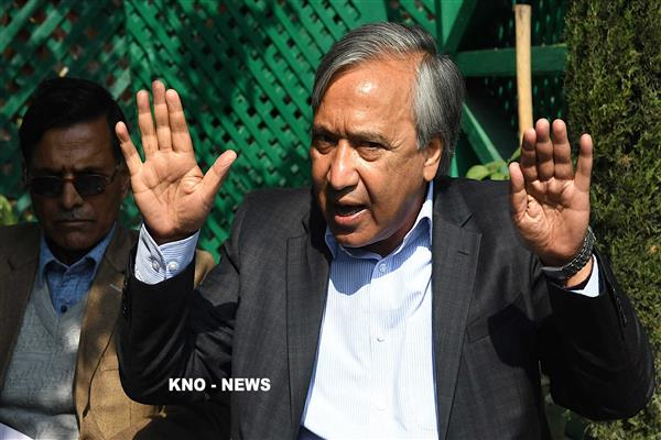 Tarigami demands one-time exemption of KCC loan to snow affected farmers | KNO