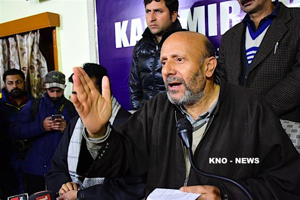 AIP president leads protest in Handwara | KNO
