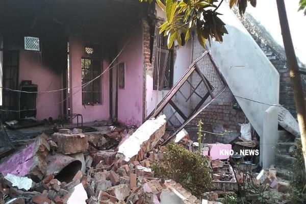Mysterious blast creates panic in Gangyal Jammu | KNO
