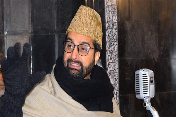 Amid harsh winter, Kashmiris being forced to come out of homes for conduct of CASO: Mirwaiz | KNO