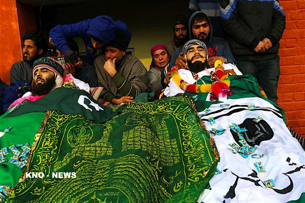Three slain militants killed in Tral gunfight laid to rest | KNO