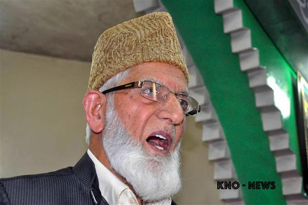 Kashmir bone of contention between Indo-Pak: Geelani | KNO