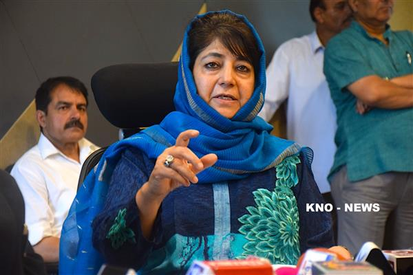 Stopping crowd from participating in funeral prayer 'disturbing': Mehbooba | KNO