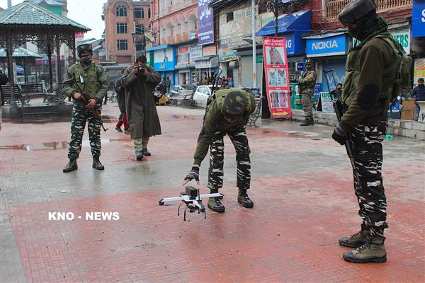 Militant threat to disrupt R-day function prompts forces to test drones, UAVs in city Centre | KNO
