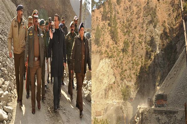 IG Traffic visits NH-44, inspects road clearance operation at Ramban | KNO
