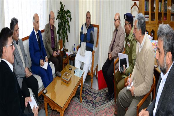 Governor reviews law & order situation in Jammu, appeals for calm | KNO