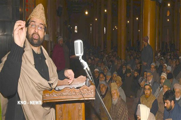Not war solution lies in dialogue: Mirwaiz Umar | KNO
