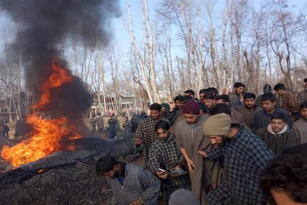 Chopper crashes in Budgam, casualties feared | KNO