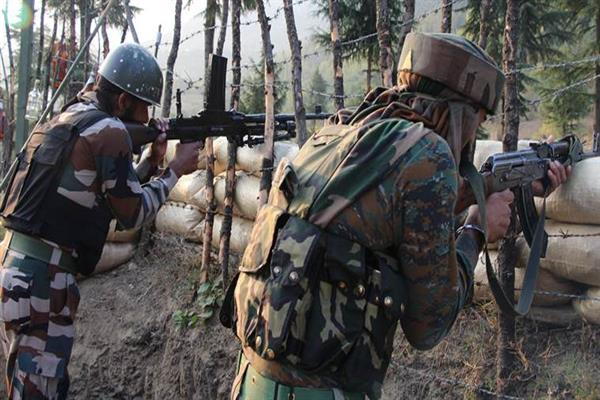 India Pakistan armies trade gunfire along LOC in Nowshehra sector | KNO