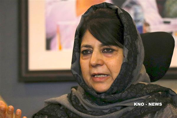 Mehbooba says result oriented dialogue not muscular approach to bring peace in Kashmir | KNO