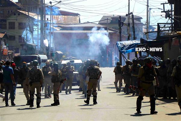 Clashes erupt during CASO in Pulwama village | KNO