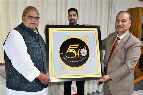 Governor unveils University of Jammu's Logo commemorating its 50th year of establishment | KNO