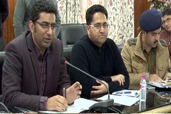 DC Srinagar reviews arrangements for Me'raj ul Alam | KNO