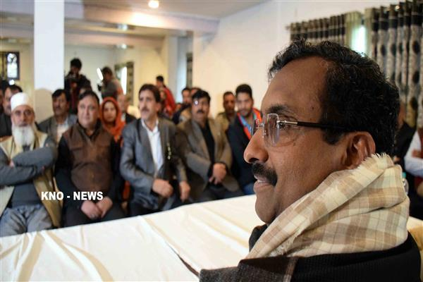 We are no longer an outsider party in J&K,  case should be filed against Akbar Lone: Ram Madhav | KNO