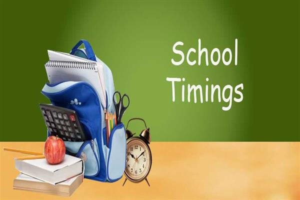School timings changed | KNO