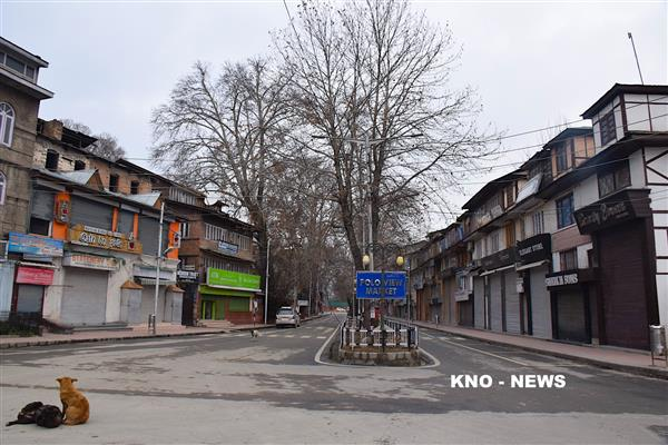 JRL sponsored shutdown marks first phase of LS polls in Kashmir | KNO