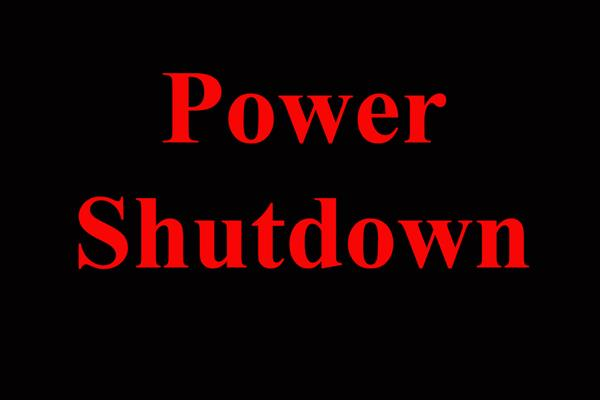Power shutdown in various areas | KNO