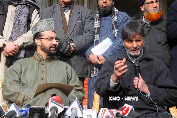 Hurriyat (M) concerned over Yasin Mailk's deteriorating health condition | KNO
