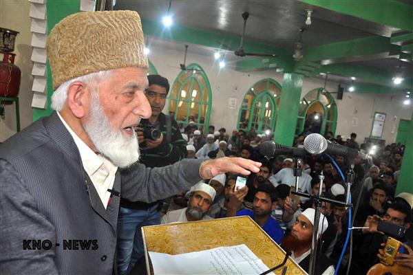 "Make ""Eidgah Chaloo"" programe a grand success on May 21: Geelani to people 