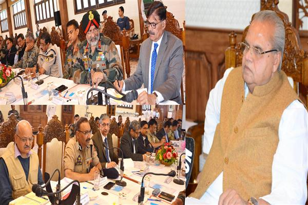 Governor directs administration to ensure smooth Amarnath Yatra, holds security review meeting | KNO