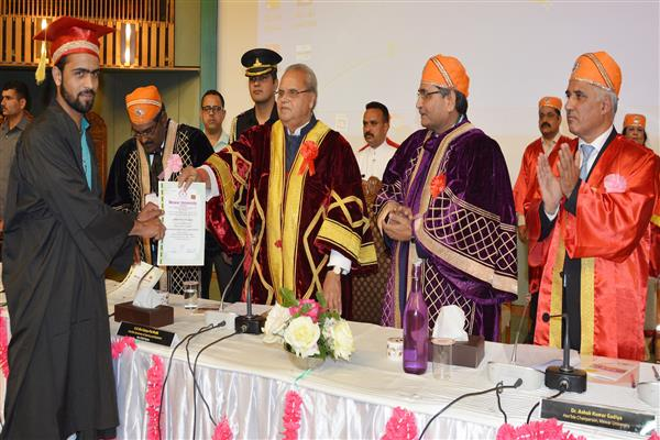 Governor attends Convocation of Mewar University | KNO