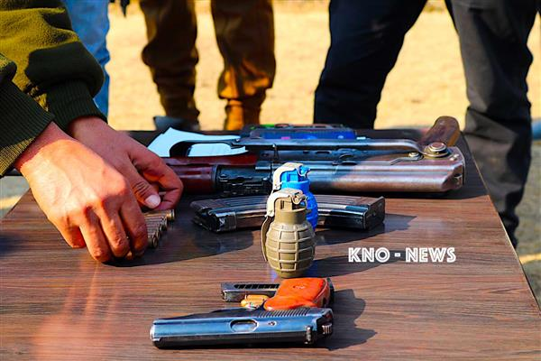 Arms and ammunition recovered in Mendhar | KNO