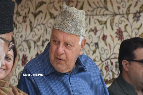 Dr Farooq concerned over steep increase in drug addiction across Kashmir | KNO