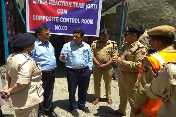 Div Com, IGP review yatra arrangements from Shaitani Nalla to Chanderkote | KNO